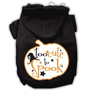 Too Cute to Spook Screenprint Hoodie Black XXXL(20)