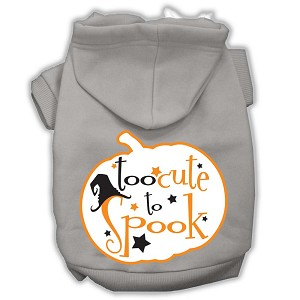 Too Cute to Spook Screenprint Hoodie Grey XXL (18)