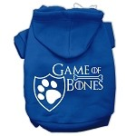 Game of Bones Screenprint Dog Hoodie Blue XS (8)