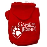 Game of Bones Screenprint Dog Hoodie Red XS (8)
