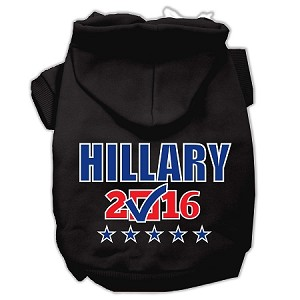 Hillary Checkbox Election Screenprint Pet Hoodies Black Size XXXL(20)