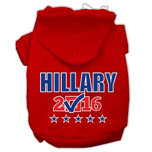 Hillary Checkbox Election Screenprint Pet Hoodies Red Size S (10)