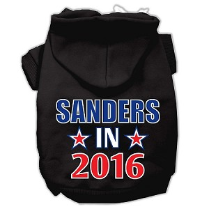 Sanders in 2016 Election Screenprint Pet Hoodies Black Size S (10)