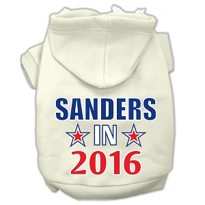 Sanders in 2016 Election Screenprint Pet Hoodies Cream Size XS (8)