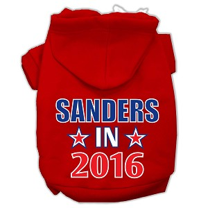 Sanders in 2016 Election Screenprint Pet Hoodies Red Size L (14)