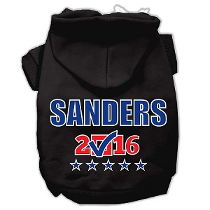 Sanders Checkbox Election Screenprint Pet Hoodies Black Size XXL (18)