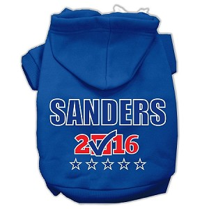 Sanders Checkbox Election Screenprint Pet Hoodies Blue Size XXXL(20)