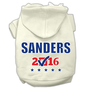 Sanders Checkbox Election Screenprint Pet Hoodies Cream Size XL (16)