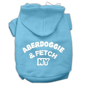 Aberdoggie NY Screenprint Pet Hoodies Baby Blue Size XS (8)