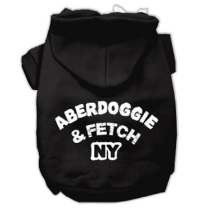 Aberdoggie NY Screenprint Pet Hoodies Black Size Lg (14)