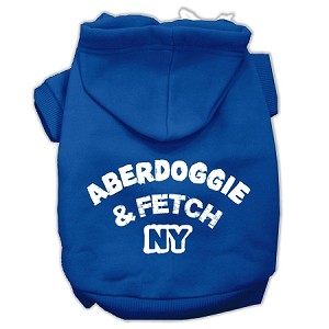 Aberdoggie NY Screenprint Pet Hoodies Blue Size Med (12)