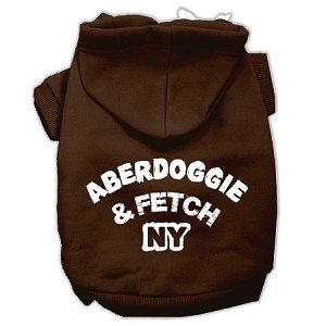 Aberdoggie NY Screenprint Pet Hoodies Brown Size Med (12)