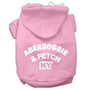 Aberdoggie NY Screenprint Pet Hoodies Light Pink Size XXL (18)