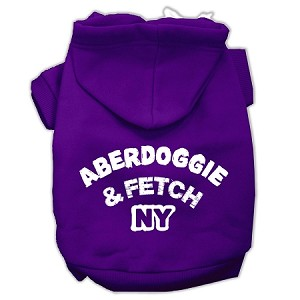 Aberdoggie NY Screenprint Pet Hoodies Purple Size XS (8)