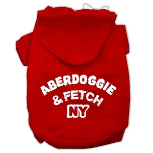 Aberdoggie NY Screenprint Pet Hoodies Red Size XL (16)
