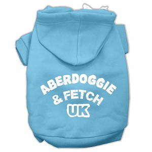 Aberdoggie UK Screenprint Pet Hoodies Baby Blue Size XL (16)