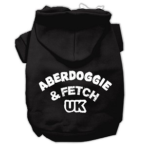 Aberdoggie UK Screenprint Pet Hoodies Black Size Lg (14)
