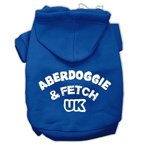 Aberdoggie UK Screenprint Pet Hoodies Blue Size Sm (10)