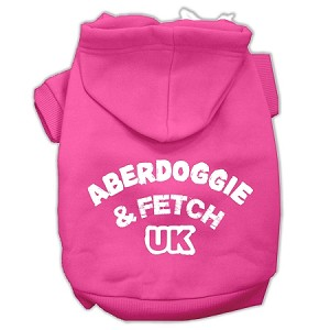 Aberdoggie UK Screenprint Pet Hoodies Bright Pink Size XS (8)