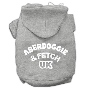 Aberdoggie UK Screenprint Pet Hoodies Grey Size XXXL (20)