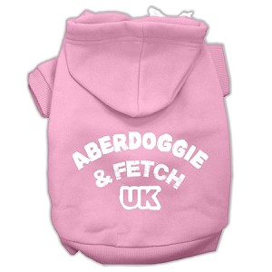 Aberdoggie UK Screenprint Pet Hoodies Light Pink Size XXXL (20)