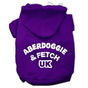 Aberdoggie UK Screenprint Pet Hoodies Purple Size XXXL (20)