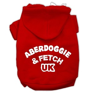 Aberdoggie UK Screenprint Pet Hoodies Red Size Med (12)