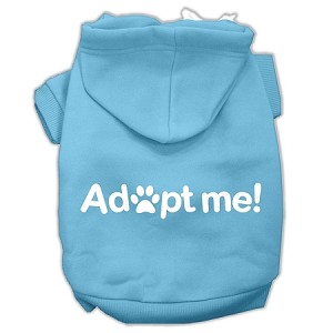 Adopt Me Screen Print Pet Hoodies Baby Blue Size XXL (18)