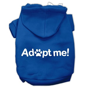 Adopt Me Screen Print Pet Hoodies Blue Size Lg (14)