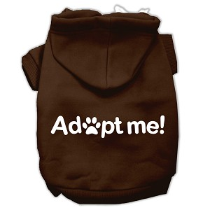 Adopt Me Screen Print Pet Hoodies Brown Size XS (8)