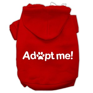 Adopt Me Screen Print Pet Hoodies Red Size Med (12)