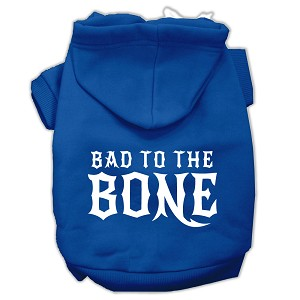Bad to the Bone Dog Pet Hoodies Blue Size XS (8)
