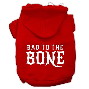 Bad to the Bone Dog Pet Hoodies Red Size XL (16)