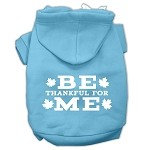 Be Thankful for Me Screen Print Pet Hoodies Baby Blue Size XS (8)
