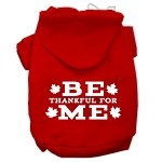 Be Thankful for Me Screen Print Pet Hoodies Red Size XS (8)