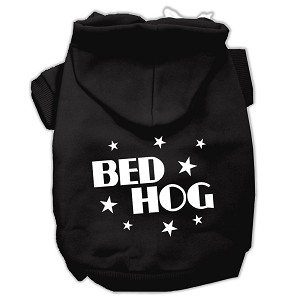 Bed Hog Screen Printed Pet Hoodies Black Size XL (16)