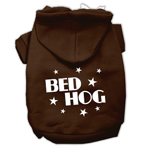 Bed Hog Screen Printed Pet Hoodies Brown Size XXL (18)
