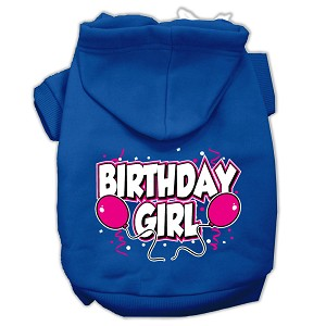 Birthday Girl Screen Print Pet Hoodies Blue Size XXXL (20)
