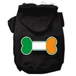 Bone Flag Ireland Screen Print Pet Hoodies Black Size XS (8)