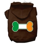 Bone Flag Ireland Screen Print Pet Hoodies Brown Size XS (8)
