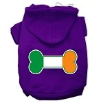 Bone Flag Ireland Screen Print Pet Hoodies Purple Size XS (8)