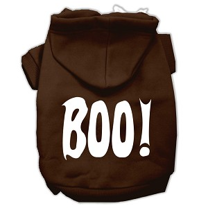 Boo! Screen Print Pet Hoodies Brown Size XL (16)