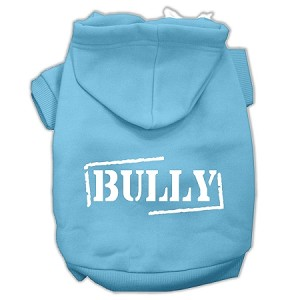 Bully Screen Printed Pet Hoodies Baby Blue Size XS (8)