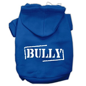Bully Screen Printed Pet Hoodies Blue Size Sm (10)