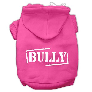 Bully Screen Printed Pet Hoodies Bright Pink Size Sm (10)