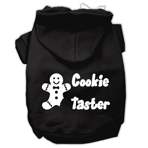 Cookie Taster Screen Print Pet Hoodies Black Size Lg (14)