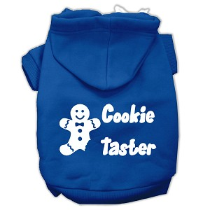 Cookie Taster Screen Print Pet Hoodies Blue Size Med (12)