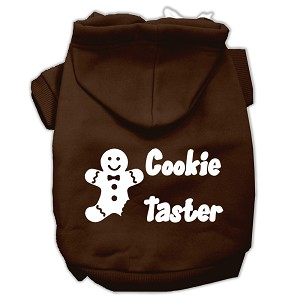 Cookie Taster Screen Print Pet Hoodies Brown Size Med (12)