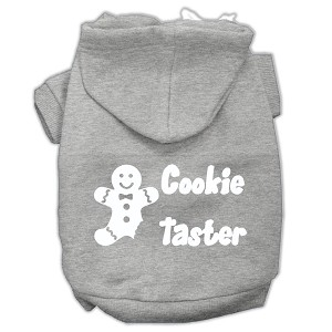 Cookie Taster Screen Print Pet Hoodies Grey Size Sm (10)