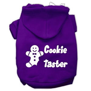 Cookie Taster Screen Print Pet Hoodies Purple Size Sm (10)